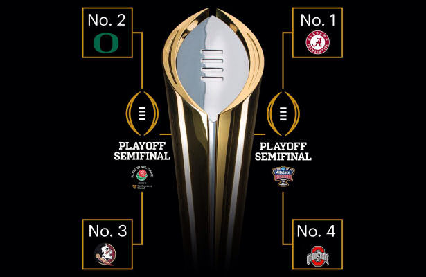 national championship rankings what football games are playing tonight